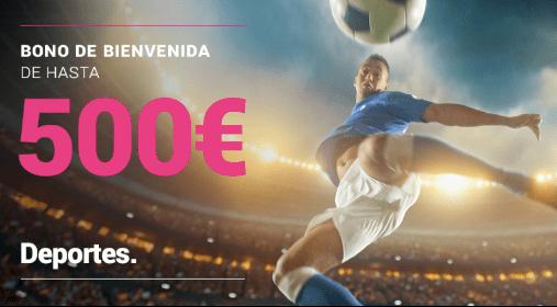 Goldenpark bonificación de bienvenida de 500 euros en apuestas