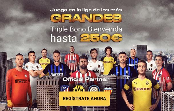 triple bono 250 euros apuestas deportivas bwin