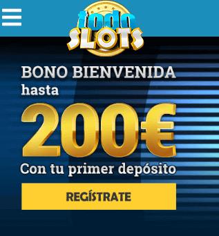 bono todoslots bienvenida 200 euros