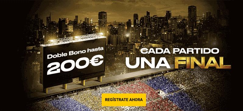 doble bono 200 euros apuestas deportivas bwin