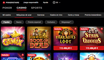 Pokerstars casino juegos populares tragaperras