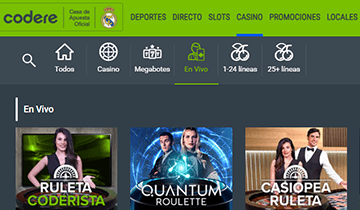 codere casino en vivo