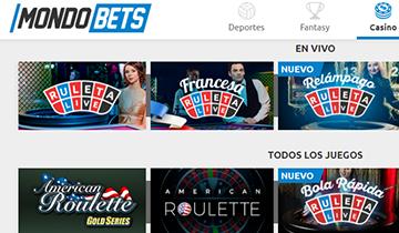 Mondobets juegos de casino en vivo