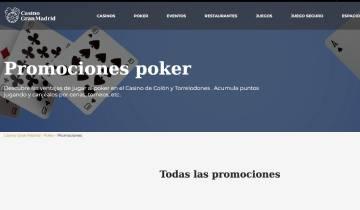Casino Gran Madrid Poker Bono