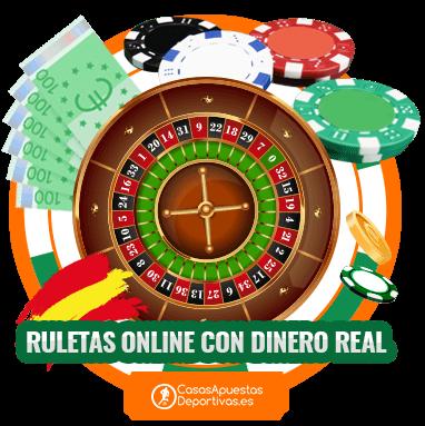 Ruleta con dinero real en los mejores casinos online