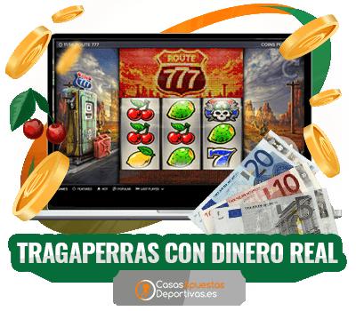 Tragaperras con dinero real en casinos online